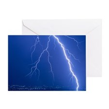 Lightning strike at night near Phoen Greeting Card