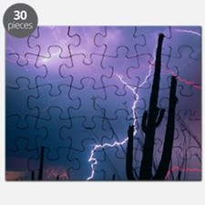 Lightning storm over Tucson, Arizona Puzzle