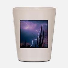 Lightning storm over Tucson, Arizona Shot Glass