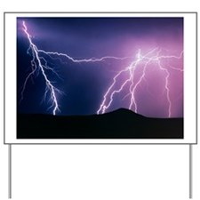 Lightning strikes at night, New Mexico Yard Sign