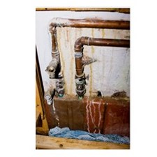 Leaking water pipes Postcards (Package of 8)