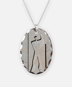 Le Corbusier design Necklace Oval Charm