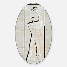 Le Corbusier design Sticker (Oval)