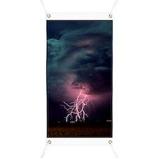Lightning over Sterling, Colorado Banner