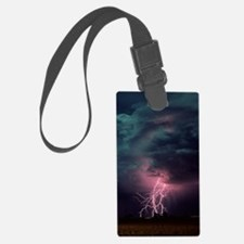 Lightning over Sterling, Colorad Luggage Tag