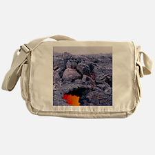 Lava tube, Kilauea volcano, Hawaii Messenger Bag