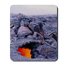 Lava tube, Kilauea volcano, Hawaii Mousepad
