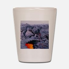 Lava tube, Kilauea volcano, Hawaii Shot Glass