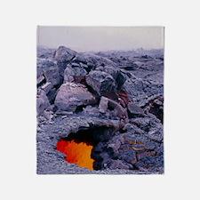 Lava tube, Kilauea volcano, Hawaii Throw Blanket