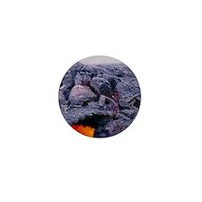 Lava tube, Kilauea volcano, Hawaii Mini Button