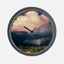 Lightning over Tucson, Arizona Wall Clock