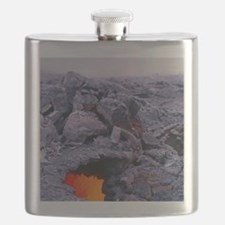 Lava tube, Kilauea volcano, Hawaii Flask