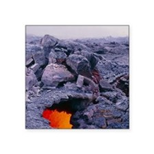 "Lava tube, Kilauea volcano, Square Sticker 3"" x 3"""