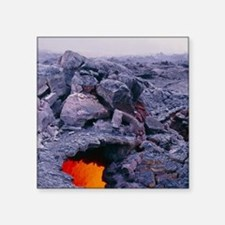 "Lava tube, Kilauea volcano, Square Sticker 3"" x 3"""