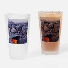 Lava tube, Kilauea volcano, Hawaii Drinking Glass