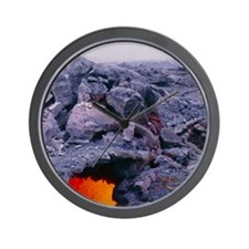 Lava tube, Kilauea volcano, Hawaii Wall Clock