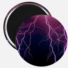 Lightning in Rincon Mountains, Tucson Magnet