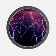 Lightning in Rincon Mountains, Tucson Wall Clock