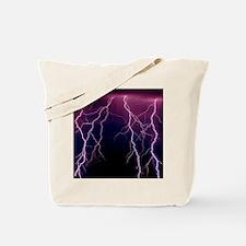 Lightning in Rincon Mountains, Tucson Tote Bag
