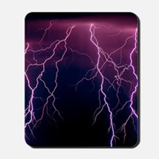 Lightning in Rincon Mountains, Tucson Mousepad