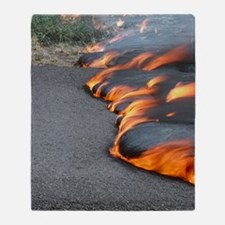 Lava flow from Kilauea volcano Throw Blanket