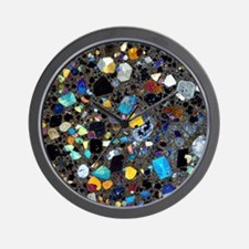 Leucite basanite, thin section Wall Clock