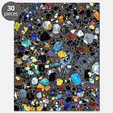 Leucite basanite, thin section Puzzle