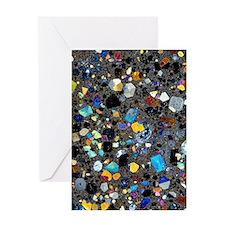 Leucite basanite, thin section Greeting Card