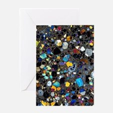 Leucite basanite, thin section Greeting Card