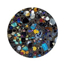 Leucite basanite, thin section Round Ornament