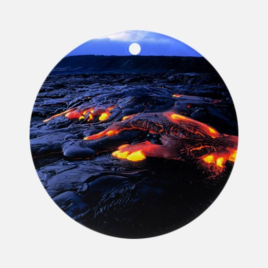 Lava flow Round Ornament