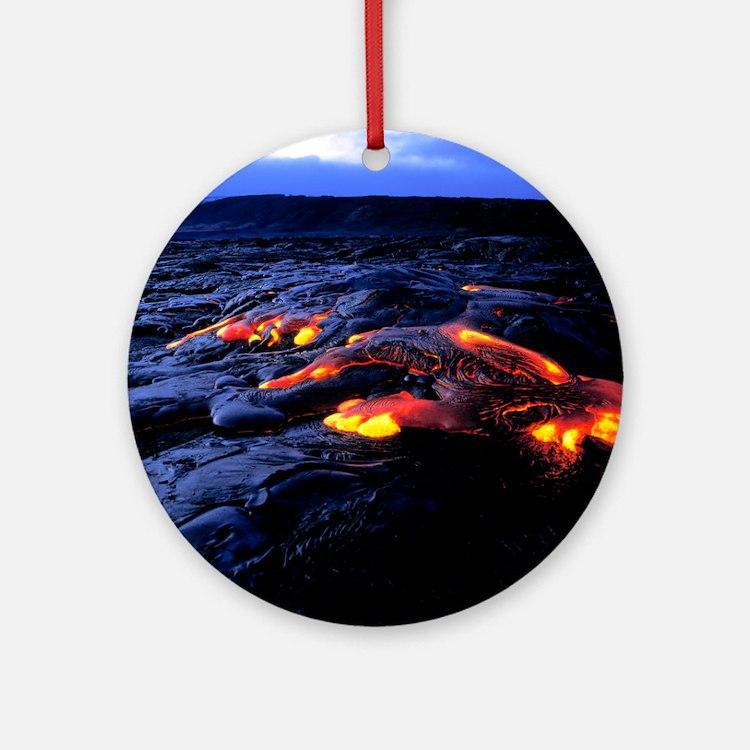 Lava flow Round Ornament