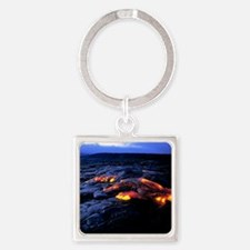 Lava flow Square Keychain