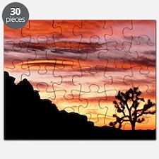 Lenticular cloud, Joshua Tree NM, sunset Puzzle