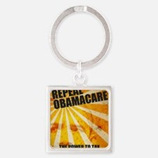 Fight To Repeal Obamacare Square Keychain