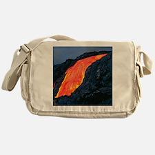 Lava flow from Kilauea volcano Messenger Bag