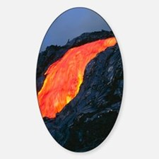 Lava flow from Kilauea volcano Decal