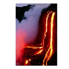 Lava flowing down cliff i Postcards (Package of 8)