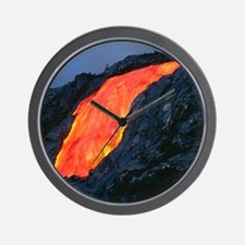 Lava flow from Kilauea volcano Wall Clock