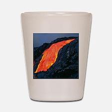 Lava flow from Kilauea volcano Shot Glass