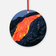 Lava flow from Kilauea volcano Round Ornament