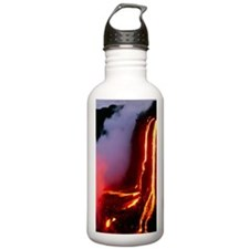 Lava flowing down clif Water Bottle