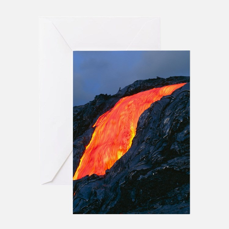 Lava flow from Kilauea volcano Greeting Card