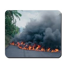 Lava flow from Kilauea volcano Mousepad