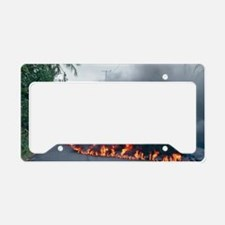 Lava flow from Kilauea volcan License Plate Holder