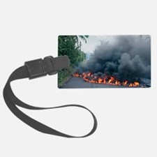 Lava flow from Kilauea volcano Luggage Tag