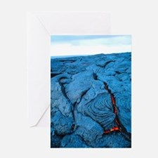 Lava flow Greeting Card