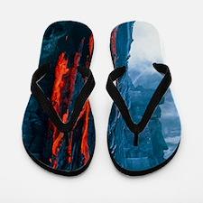 Lava flow Flip Flops