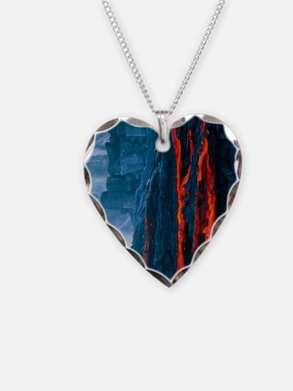Lava flow Necklace Heart Charm