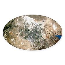 Las Vegas, satellite image Decal